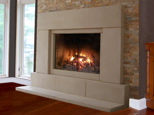 Tri-Stone manufactures high quality cast stone fireplaces. View many different fireplace designs and photos to choose your favorite.